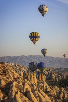 Places I have been - Cappadocia, Turkey.  Woohoo! we did take the hot air balloon and was awesome