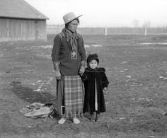Eneas, (also known as Paul Charles), a Kutenai Chief with daughter, Annie.