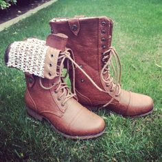 Convertible Lace Combat Boots