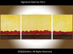 Abstract Landscape Painting Original Modern Heavy by QiQiGallery, $365.00