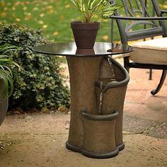 artistic table fountain design