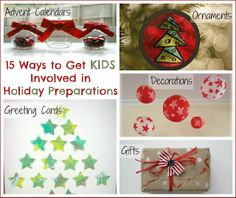 15 Ways to Get the Kids Involved in Christmas Preparations: Kid's Co-op ~ Reading Confetti