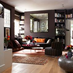 jak-stosowac-kolory-we-wnetrzu-brązowy-brąz-czekoladowy-jadalnia-salon-1h - Architekt o Architekturze i wyjątkowych projektach.
