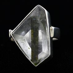 Another sterling silver piece with a raw gemstone I dig! I would totally rock it at a show!