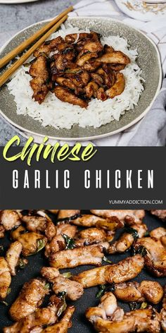 Chinese Garlic Chicken – Way Better than Takeout! Chinese Garlic Chicken – Way Better than Takeout!,Asian Recipe Collection This better-than-takeout Chinese Garlic Chicken makes a perfect weeknight dinner as it's really easy to make. Chinese Garlic Chicken, Korean Chicken, Korean Beef, Fried Chicken, Chinese Chicken Dishes, Butter Chicken, Garlic Butter, Healthy Garlic Chicken, Hibachi Chicken