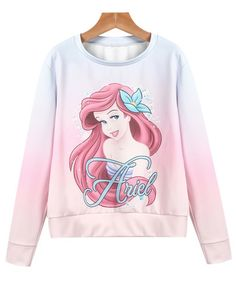 To find out about the Pink Long Sleeve Girl Print Sweatshirt at SHEIN, part of our latest Sweatshirts ready to shop online today! Chic Outfits, Girl Outfits, Fashion Outfits, Disney Fashion, Sweatshirts Online, Printed Sweatshirts, Disney Pajamas, Disney Outfits, Disney Clothes