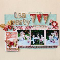 #papercraft #scrapbook #layout      Tea Party | Kelly Noel