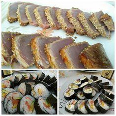 Comida por todo lo alto. Hecha por nosotros. Un sábado dándolo todo en la cocina.  #sushi #tataki #鰹ノタタキ #manjar #albacete #cocina #invierno #comida #quebuenoestaba #buenosdias #desconectar #relax #igersalbacete #igersclm #365cosasquehacerenalbacete #insta #albaceteños #happy #sinfiltros #paisajes #detalles #naturaleza #momentosunicos #amazing #smile #picoftheday #style #me #beautiful #fun by mario_rp