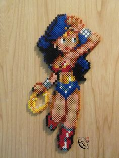 Wonder Woman Perler Beads by Cimenord