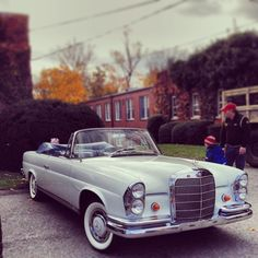 It's 45-degrees this morning. Perfect for going top-down. #Mercedes #Benz W111 Cabriolet