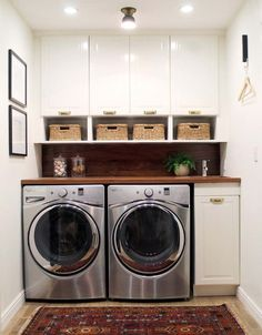 Just because you have a small laundry room doesn't mean it has to be ho-hum. Check out this post to see small laundry room inspirations that have big style!