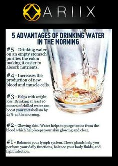 Healthy Living, Health Tips for the day , 5 advantages of drinking water in morning, Healthy Lifestyle, Healthy Living Healthy Tips, Healthy Choices, How To Stay Healthy, Healthy Water, Healthy Weight, Healthy Recipes, Healthy Snacks, Healthy Drinks, Healthy Quotes