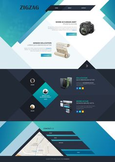 ZigZag Design - diagonal background layers. ZigZag is suitable for websites with minimal contents. Get it on http://www.templatemo.com/tm-471-zigzag #WebTemplate #HTML