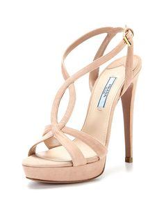 Suede Sandal by Prada