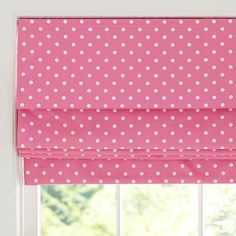 Dottie Cordless Roman Shade With Blackout Lining // pottery barn teen Teen Curtains, Bedroom Drapes, Panel Curtains, Big Girl Bedrooms, Girls Bedroom, Bedroom Ideas, Dream Bedroom, Window Coverings, Window Treatments