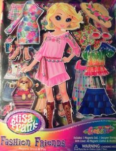 Lisa Frank Fashion Friends Magnetic Dress & Play Doll Cassie by Lisa Frank