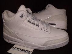 Nike Air Jordan III 3 Retro WHITE METALLIC SILVER ANNIVERSARY CEMENT GREY Sz 11