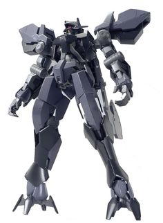 """Bandai Hobby HG 1/144 Graze Ein """"Gundam Iron Blooded Orphans"""" Model Kit. The Graze Ein's visor can also reveal a red eye sensor linked to its pilot's brain. . Package dimensions 11.85(W) x 7.7(H) X 1.5 (D). Product bears official Bluefin Distribution Logo."""