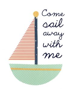 Nursery Art  Children's Quotes  Nautical by FitToPrintDesigns, $42.00