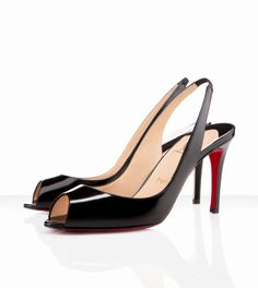 9726e600e30 Christian Louboutin You You Sling 85mm Black - 146 Black Christian Louboutin