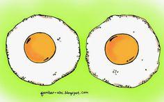 Hasil gambar untuk sketsa telur ceplok
