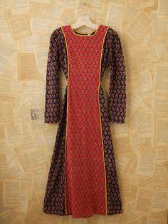 Vintage Indian Batik Dress Batik Dress, Vintage Love, Free People, High Neck Dress, Indian, Couture, My Style, Passion, Inspiration