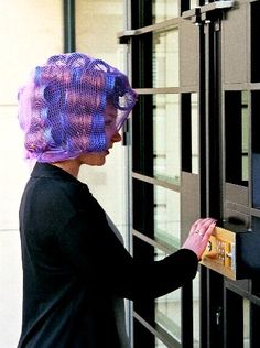 Mark couldn't believe it...he'd done exactly as his girlfriend instructed...asked the stylist at the salon to dye his hair and set him on rollers ! Now she was making him wait outside the flat for all the neighbours to see him feminised like this !