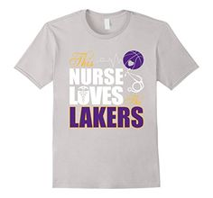 Womens Sports Gear Nurse Loves Lakers Basketball T-Shirt - http://weheartlakers.com/lakers-shirts/womens-sports-gear-nurse-loves-lakers-basketball-t-shirt