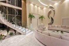 Home Stairs Design, Dream Home Design, Home Design Plans, Modern House Design, Mansion Interior, Dream House Interior, Luxury Homes Interior, Home Interior Design, Fancy Living Rooms