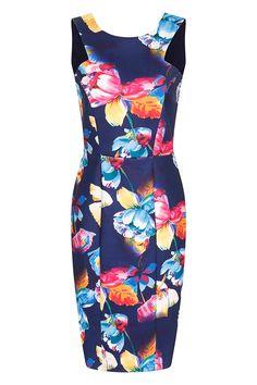 Navy Tropical Floral V Back Dress from www.vestryonline.com Navy Blue  Summer Dress ea6d76e6c