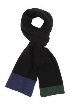 Strikket halstørklæde i 100% Kashmir til mænd. Pure Cashmere.