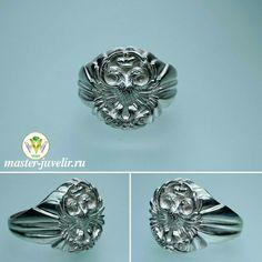 2d1ed556011e Серебряное мужское кольцо с Двуглавым орлом. Артикул П053, серебро 925  пробы, ширина 2