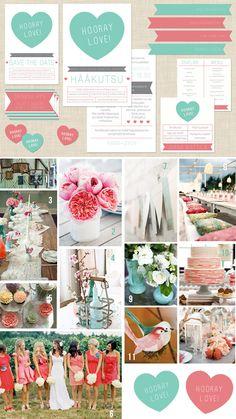 HOORAY LOVE WEDDING STATIONERY SUITE & INSPIRATION BOARD