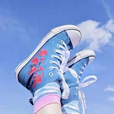 Uploaded by g i r l. Find images and videos about blue, aesthetic and shoes on We Heart It - the app to get lost in what you love. Blue Aesthetic Pastel, Aesthetic Colors, Aesthetic Pictures, Blue Aesthetic Tumblr, Aesthetic Drawings, Flower Aesthetic, Aesthetic Collage, Summer Aesthetic, Aesthetic Fashion