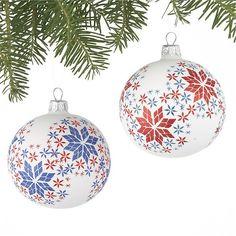Set of 2 Scandi Snowflake Ball Ornaments in Winter Clearance Sale Snowflake Ornaments, Ball Ornaments, Glass Christmas Ornaments, Christmas Balls, Snowflakes, Christmas Crafts, Christmas Decorations, Holiday Decor, Christmas Ideas