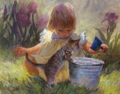 Gardeners Helper by Susan Blackwood Paper All Susan Blackwood Prints | eBay
