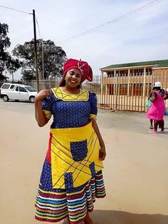Shweshwe Dresses, African Maxi Dresses, African Wedding Dress, African Clothes, African Dresses For Women, African Traditional Wedding Dress, African Fashion Traditional, Traditional Outfits, Xhosa Attire