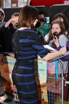 Emily Blunt bob hairstyle from the back. via StyleBistro