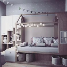 60 affordable kids bedroom design ideas that suitable for kids 16 Big Girl Rooms, Boy Room, Child Room, Baby Bedroom, Girls Bedroom, 70s Bedroom, Kid Bedrooms, Bedroom Decor, Minimalist Room