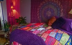 Fabulous handmade Kuchi bedspreads, pillow covers, and wall hangings Bohemian Room, Bohemian Interior, Bohemian Decor, Bohemian Bedrooms, Gypsy Bedroom, Master Bedroom Redo, India Decor, Summer Deco, Home Design Decor