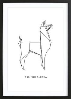 A als Poster in houten lijst door Julia Marquardt | JUNIQE