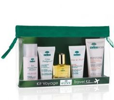 Keep your skin in shape from head to toe when you're traveling.  NUXE Travel Kit - SAVE 20%  #skincare #travel #beauty