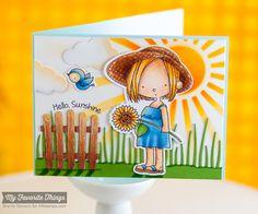 Sunflower Sweetheart, Wood Plank Background, Jumbo Cloud STAX Die-namics, Sunflower Sweetheart Die-namics, Tall Grassy Edge Die-namics, Sun Ray Stencil - Sherrie Siemens #mftstamps