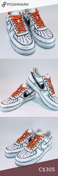 Nike Air Force Cartoon Limited supply Nike Air Force 1 Custom 'Available in all sizes for Men and Women.  For Womens sizes subtract 1.5 from your current size and select it, for example:  Women size 7 = 5.5 US Men Women size 8 = 6.5 US Men Women size 9 = 7.5 US Men Women size 10 = 8.5 US Men   All of our designs are handmade and made to order, we manage our orders professionally and use original high quality sneakers. Nike Shoes Sneakers Nike Shoes, Shoes Sneakers, Us Man, Nike Air Force, Black Nikes, Nike Men, Size 10, Man Shop, Cartoon
