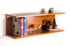 Vintage teak u-shaped wall shelf – Vintage Furniture Base