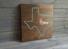 Pick Colors, Texas Custom Wood Sign, Texas State Sign, Stained and Hand Painted, Personalize, Texas decor, Longhorns decor, Aggies decor
