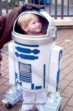 Homemade R2D2 Halloween Costume