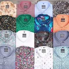 The Grand Frank shirt collection - which one is your favorite? - I really dig the crazy prints! Green, floral, flamingo, etc Big Men Fashion, Bold Fashion, Urban Fashion, Mens Printed Shirts, Corporate Wear, Masculine Style, Business Casual Attire, Casual Wear For Men, Dapper Men
