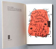 Fine Fine Books: Henry Miller/Joan Miró: The Smile at the Foot of the Ladder
