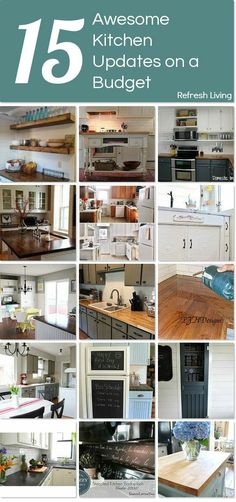 Updating a Kitchen on a Budget - 15 Awesome (& Cheap) Ideas